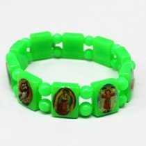 Rosary Type Bracelets - Green Neon Colours