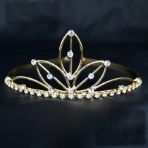 Bridal Tiara Lotus Design Gold (GS30335)