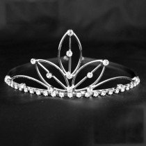 Bridal Tiara Lotus Design Silver (GS30325)