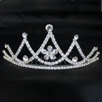 Bridal Comb Tiara with Diamante - Silver (G22163)