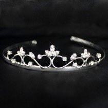 Bridal Tiara - Silver & White Diamond