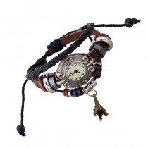 Beautiful Leather Wrap Bracelet Quartz Watch (Eiffel Tower Design)