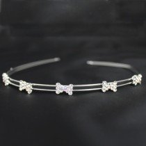 Bridal 218/ Bridal Tiara - Diamante Ribbons (HR00185)