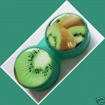Kiwi Plum Summer Fruits Contact Lens Holder For Lenses