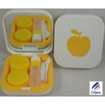Yellow Apple Contact Lens Travel Kit With Mirror