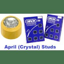 Pack Of 12 Caflon Mini Birthstones April (Crystal) Ear Piercing Studs - 24ct