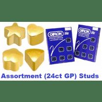 Pack Of 12 Caflon Assorted Shape Ear Piercing Studs - 24ct Regular