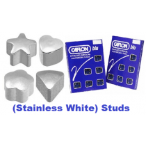 Pack Of 12 Caflon Assorted Shape Ear Piercing Studs - Stainless White Regular