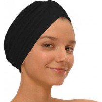 Black Fashion Turban Funky Headwrap