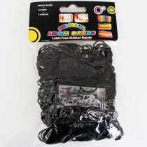 Colourful Loom Bands (Black Block Colour) 12 Packs