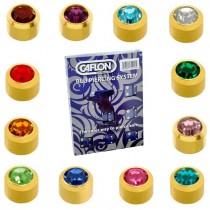 Pack Of 12 Caflon Mini Birthstones Assorted Ear Piercing Studs - 24ct