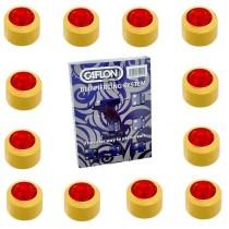 Pack Of 12 Caflon Mini Birthstones July (Ruby) Ear Piercing Studs - 24ct