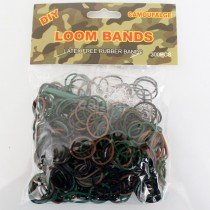 Colourful Loom Bands (Camouflage 300s) 12 Packs