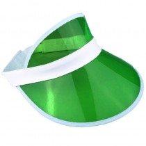 6 x Green Sun Visors Croupier Hat Golf/Poker/80s