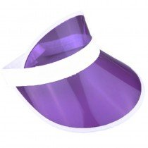 6 x Purple Sun Visors Croupier Hat Golf/Poker/80s