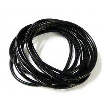 Gummy Bangles - Solid Black (12 Packs of 12)