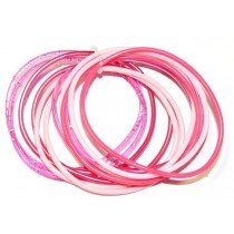 Gummy Bangles - Pink Assorted (12 Packs of 12)