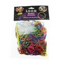 Loom Bands - Assorted Colours (600pcs) 12 Packs