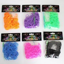 Colourful Loom Bands (Assorted Block Colours) 300s 12 Packs