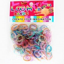 Glitter Loom Bands (Assorted Colours) 300s 12 Packs