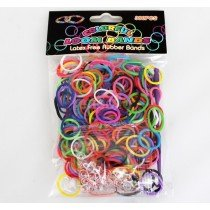 Colourful Loom Bands (Assorted Colours) (300pcs) 12 Packs