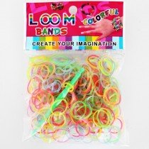 Glow in the Dark Loom Bands (Assorted Colours) 12 Packs