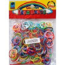 Colourful Loom Bands (Lavender Scented 300s) 12 Packs