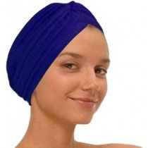 Navy Fashion Turban Funky Headwrap