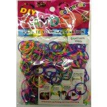 Colourful Loom Bands (2 Tone 300s) 12 Packs