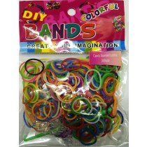 Colourful Loom Bands (Candy Scented 300s) 12 Packs