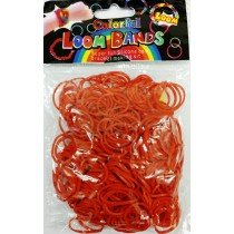 Red Block Loom Bands 300s X 12 Packs