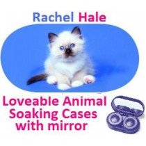 White Kitten Rachel Hale Contact Lens Soaking Case