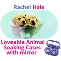 Puppies In a Bucket Rachel Hale Contact Lens Soaking Case