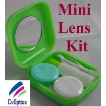 Green Mini Contact Lenses Storage Lens Travel Kit
