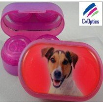 Jack Russel Furry Friends Contact Lens Soaking Case