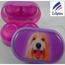 Collie Furry Friends Contact Lens Soaking Case