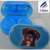 Boxer Furry Friends Contact Lens Soaking Case