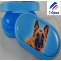 German Shepard Furry Friends Contact Lens Soaking Case