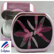 Black Floral Karine Faou Contact Lens Soaking Case