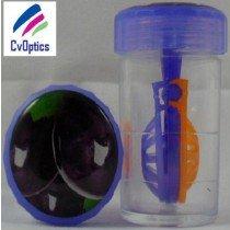 Plum Fruit Contact Lens Storage Soaking Barrel Case