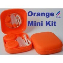 Orange Mini Contact Lenses Storage Lens Travel Kit