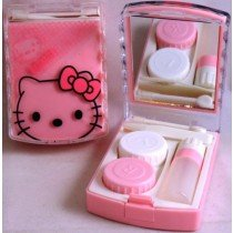 Pink Hello Kitty Contact Lens Storage Soaking Travel Kit