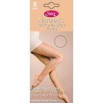(6 Packs) Silky's 8 Denier Naturals Second Skin Tights (Medium Black)