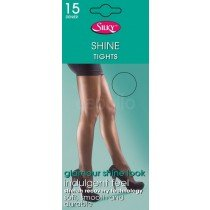 (6 Packs) Silky's Super Shine Tights 15 Denier (Extra Large Black )