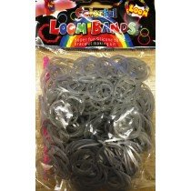Colourful Loom Bands Silver Block 300's 12 Packs