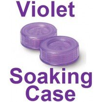 Violet Contact Lens Soaking Case -Translucent Style