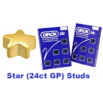 Pack Of 12 Caflon Star Shaped Ear Piercing Studs - 24ct Regular
