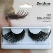 Stargazer Reusable False Eyelashes Extra Long Black & Diamonte 63