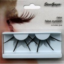 Stargazer Reusable False Eyelashes Extra Long Black with Gold Glitter 74