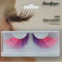 Stargazer Reusable False Eyelashes Extra Long Pink & Purple 55